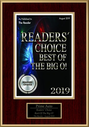 Readers' Choice Award 2019 Best of the Big O!